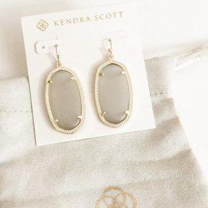 KENDRA SCOTT • Elle Drop Earrings Slate Cat's Eye